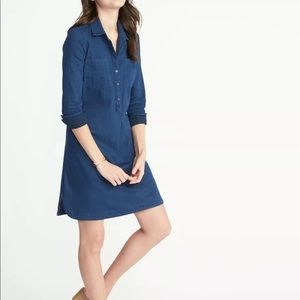 Old Navy Chambray Long Sleeve Dress sz M